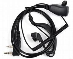 Baofeng UV5r Ear Hanger Walkie Talkie Earphone for Two Way Radio with Ptt