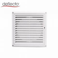 Ventilation Plastic Cover 4''5''6''Air Vent Louver Cover With Mesh