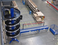 Saving Floor Space spiral conveyor Vertical Transfer Spiral Elevator