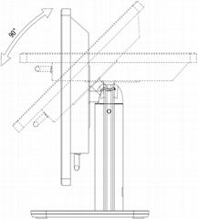 電容式液晶光頭並聯端口安卓32英吋壁挂式