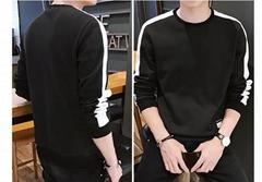 Fall / winter men's long-sleeved T - shirt students plus velvet clothes tide bra