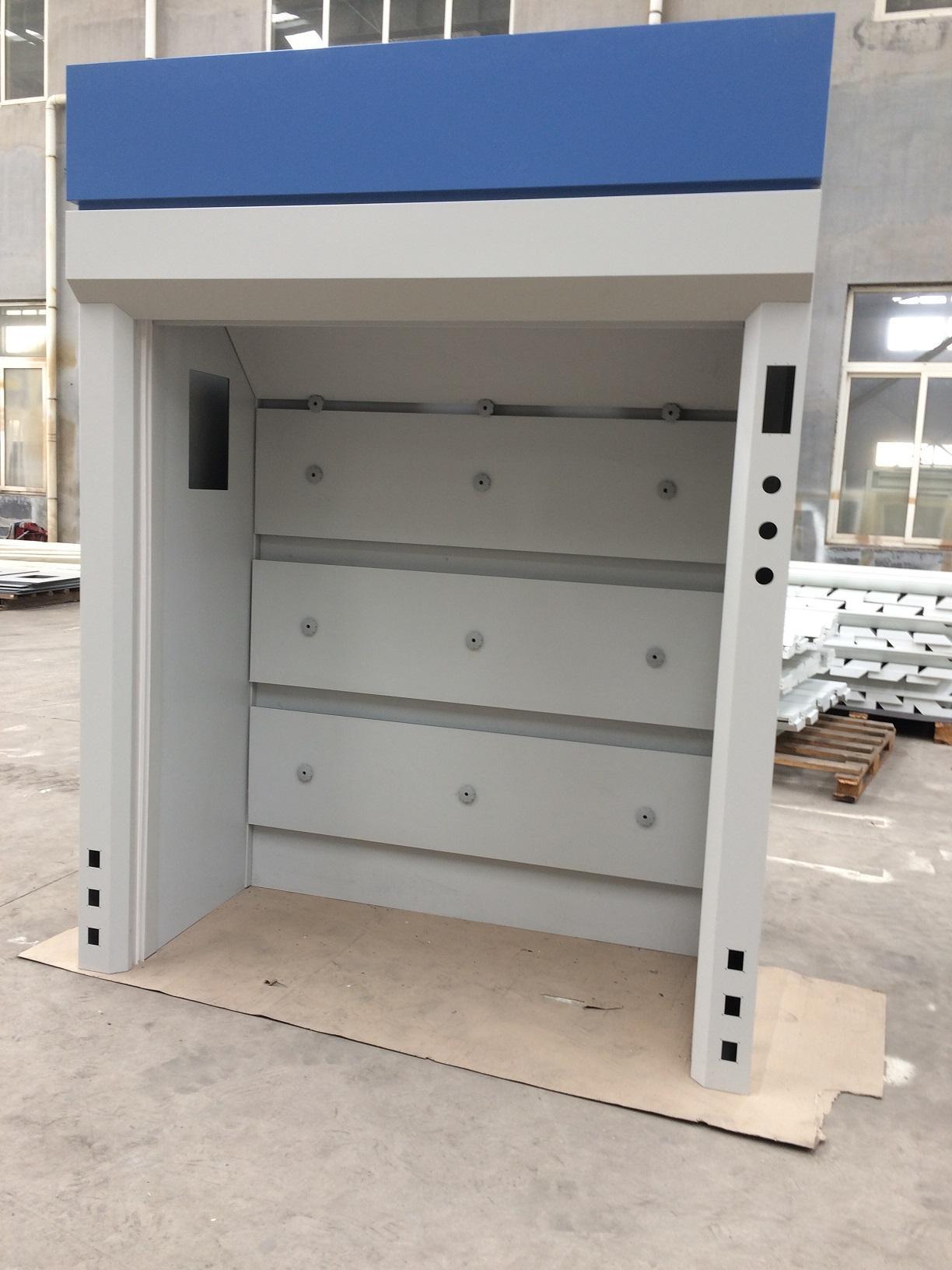 CE Approved All Steel Fume Cabinet Walk-in Laboratory Fume Cupboard Floor Mounte 3