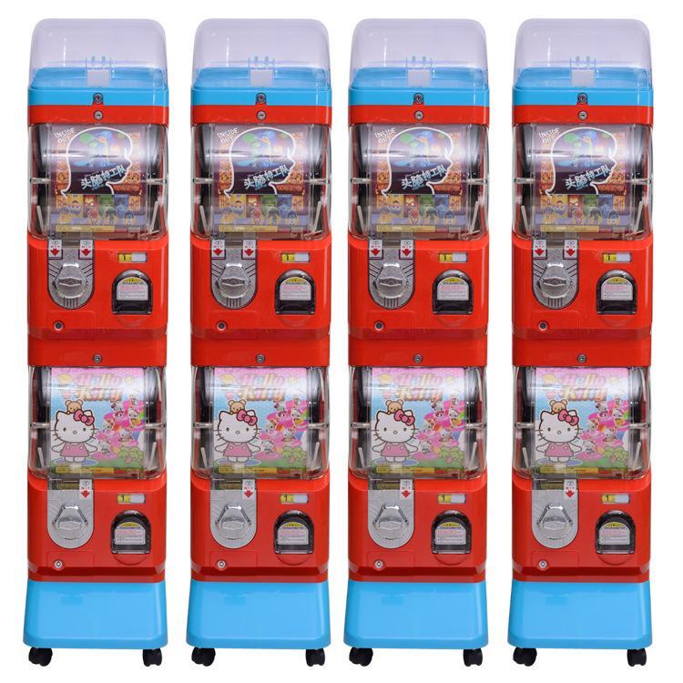 Two layer capsule toy vending machine gacha machine with display 1