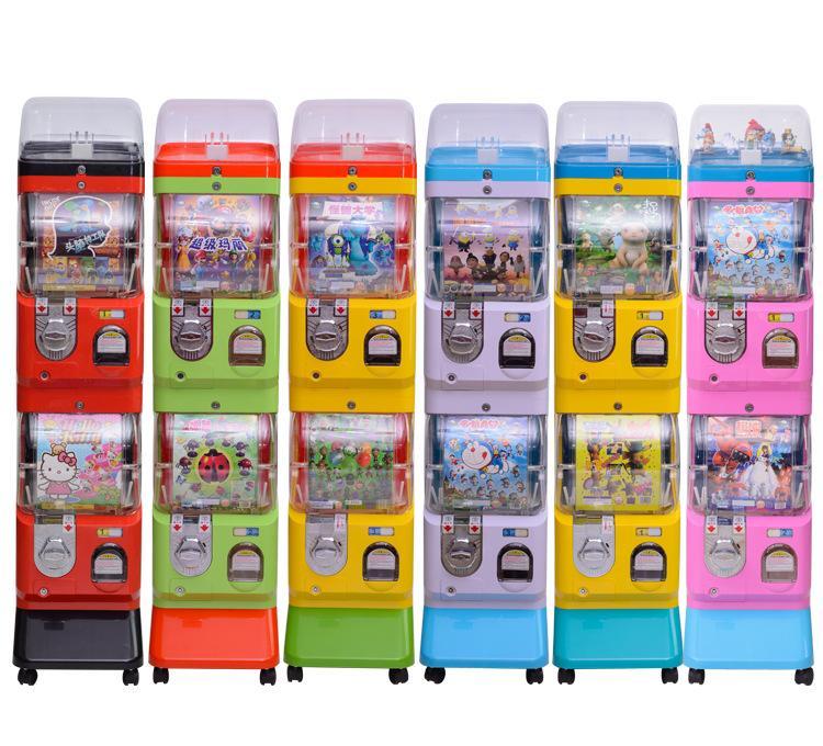 Two layer capsule toy vending machine gacha machine with display 2