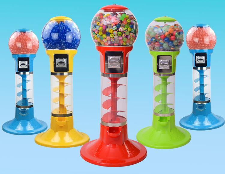 Gumball Candy Bouncy Balls Toy Capsules Spiral Vending Machine 1