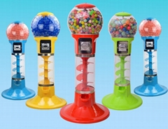 Gumball Candy Bouncy Balls Toy Capsules Spiral Vending Machine