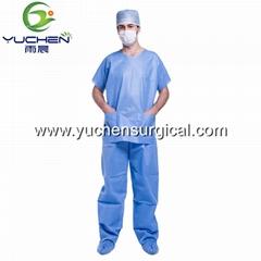 China Factory Wholesale Hospital Uniform Scrubs Medical Nonwoven Scrub Suits
