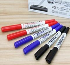雄狮685小双头油性记号笔批发黑色勾线笔