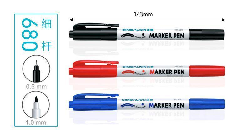 雄狮680双头油性奇异笔标记笔 1