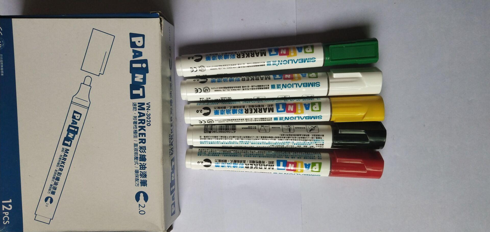 臺灣雄獅MARKER彩繪油漆筆(VN-3010)耐高溫 正品保証提供SGS 3