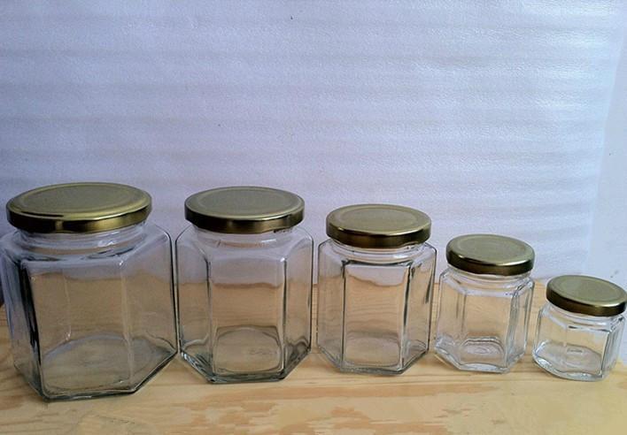 供应生产380ml六棱玻璃瓶 1