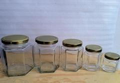 供应生产380ml六棱玻璃瓶