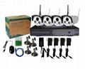 4 cameras surveillance video system kit