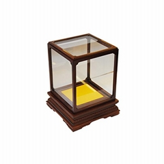 Custom small wooden gift box coin gold silver bullion/coin packaging boxes