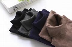 Autumn and winter women's slim slim turtleneck pullover sweater knit bottom