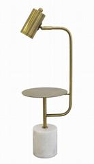 Modern marble w/metal desk lamp