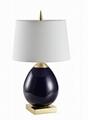 Blue ceramic table lamp
