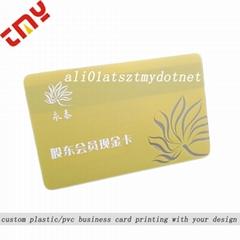Custom Design Printed Blank Clear Plastic Gift Cards