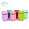 Fancy Glass Water Cup with Silicone Rubber Sleeve, Sports Water Cups 5