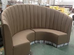 香港餐厅弧形沙发定做厂商直销款式可选