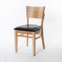香港餐廳實木椅架防火皮革餐椅餐廳櫈廠家訂製