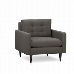 防火阻燃单人位沙发椅定做厂家直销