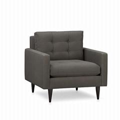 防火阻燃單人位沙發椅定做廠家直銷