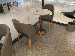 COCO都可奶茶店餐桌椅供应商高档大理石小圆桌定做