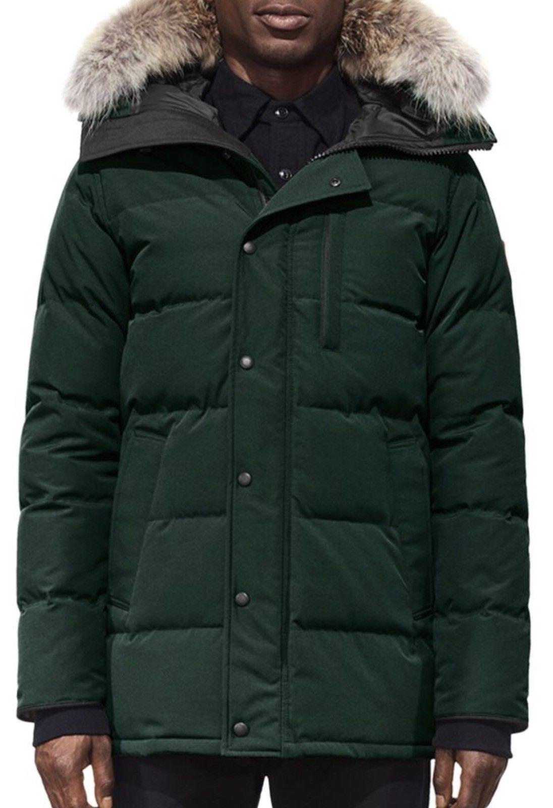 New goose  down 2018 (Med) Carson Fur Trimmed Parka With Coyote Nwt Spruce