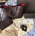 Louis Vuitton LV Neverfull MM Damier Ebene Canvas Karakoram bags Christmas Gift