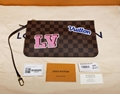 2018 Louis Vuitton Damier Ebene Patches Neverfull MM N40049 Pochette Stickers