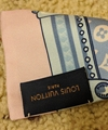 Louis Vuitton Silk Animalle Fish Bandeau in Blue/Light Pink lv cheap scarf sale 4