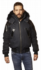 Men's Moose Knuckles Algonquin Jacket Silver Fox Hood BLACK