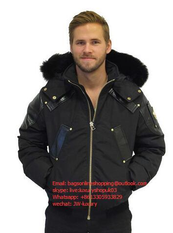 Moose Knuckles Comeau Fur-Trimmed Down Bomber men Jacket