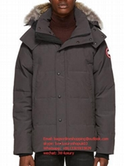 Goose Grey Down Wyndham Parka down-filled technical satin and cotton parka