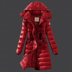 moncler Sleek leather piping mid-length quilted puffer insulated