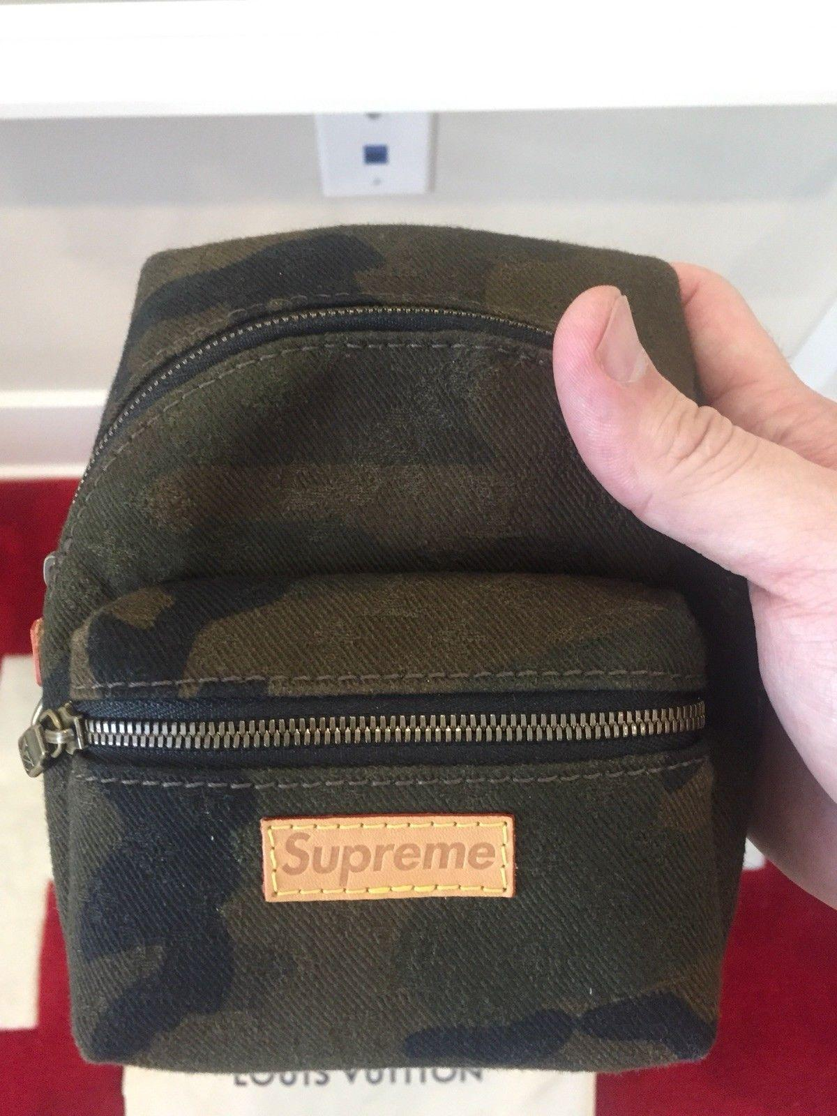LOUIS VUITTON SUPREME Apollo Camo Nano Backpack Mini Book Bag Monogram M44201 3
