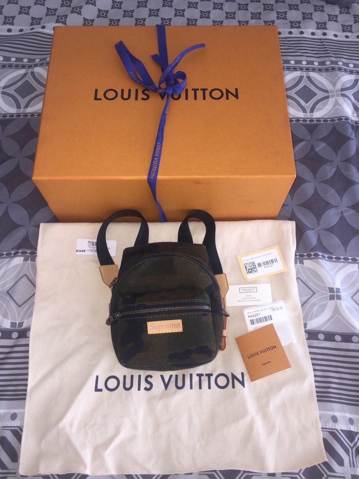 LOUIS VUITTON SUPREME Apollo Camo Nano Backpack Mini Book Bag Monogram M44201 2