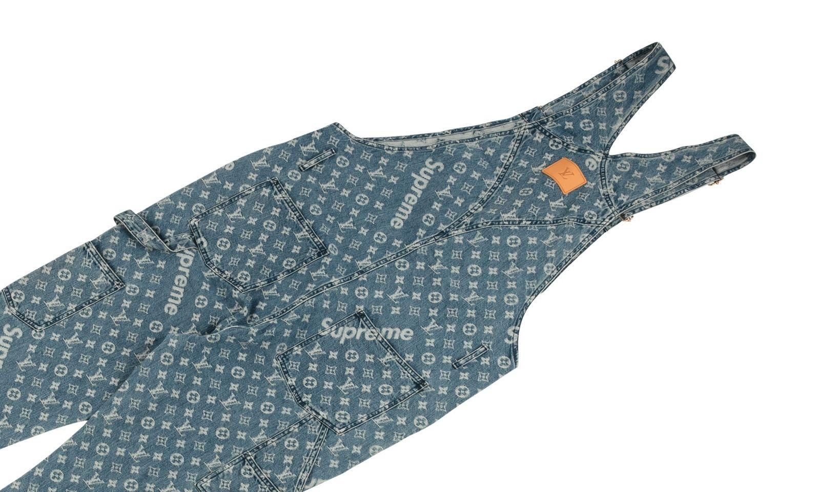 "Louis Vuitton Jacquard Denim Overalls ""Louis Vuitton X Supreme"""