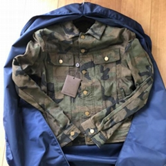 Supreme x Louis Vuitton Denim Trucker Jacket Camo Monogram lv men women jackets