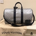 Louis Vuitton Satellite Galaxy Keepall Bandouliere 50 Silver Duffle Travel Bag