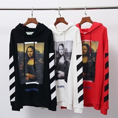 Off-White Women Men Unisex C/O Virgil Mona Lisa Print Hoodies Sweatshirts New X