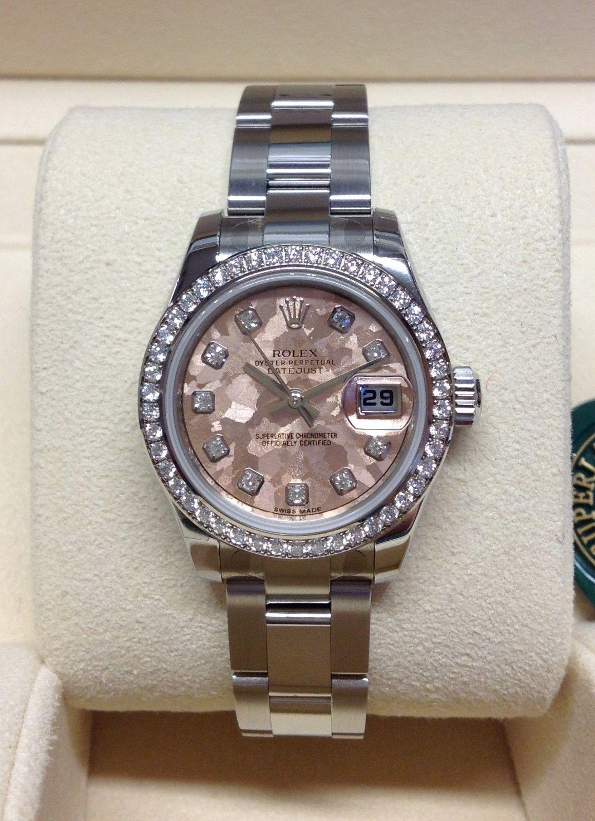 Rolex Datejust Lady 179384 26mm Diamond Bezel BOX AND PAPERS 2018