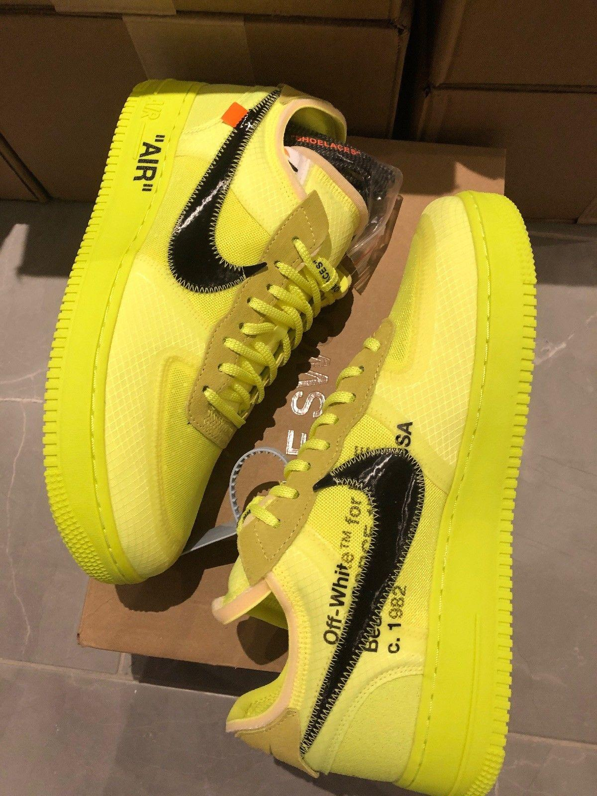 on sale 828d1 5c398 ... The Ten Nike Air Force 1 Low X Off-White Volt Black Mens womens ...