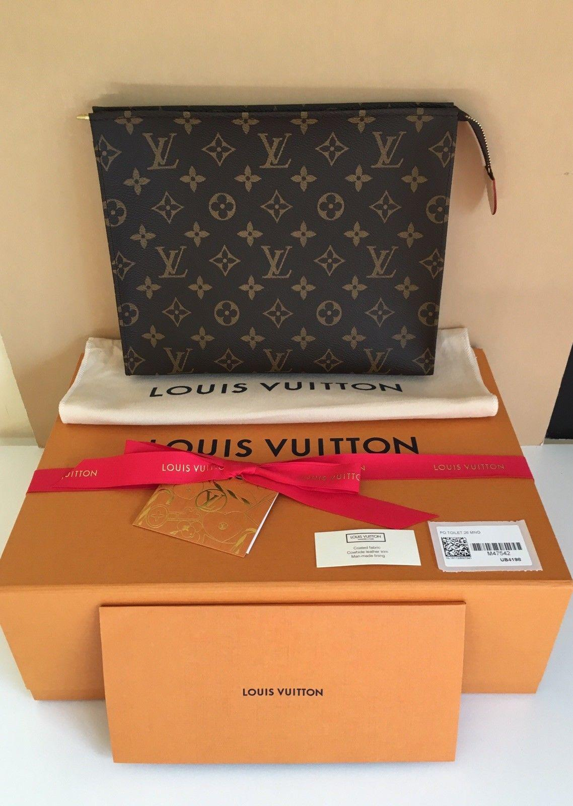 Louis Vuitton Toiletry Pouch 26 Monogram Cosmetic Bag & 2 Parfums lv purse bags