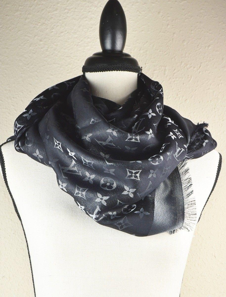 LV Monogram Silk/Wool Shine Scarf/Shawl lv scarves cheap M75123 Louis Vuitton 5