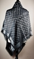 LV Monogram Silk/Wool Shine Scarf/Shawl lv scarves cheap M75123 Louis Vuitton 7