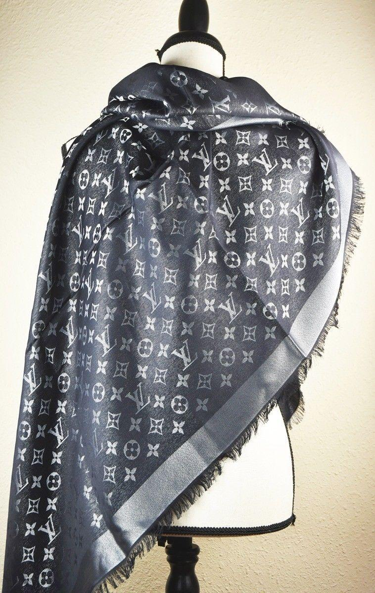 LV Monogram Silk/Wool Shine Scarf/Shawl lv scarves cheap M75123 Louis Vuitton 8