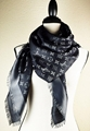 LV Monogram Silk/Wool Shine Scarf/Shawl lv scarves cheap M75123 Louis Vuitton 9