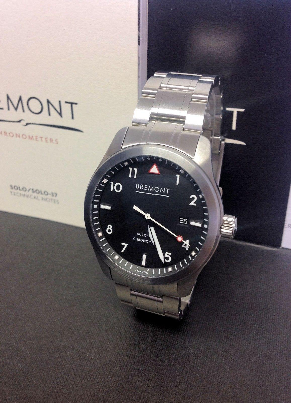 Bremont Solo Black Dial 43mm - Box & Paperwork